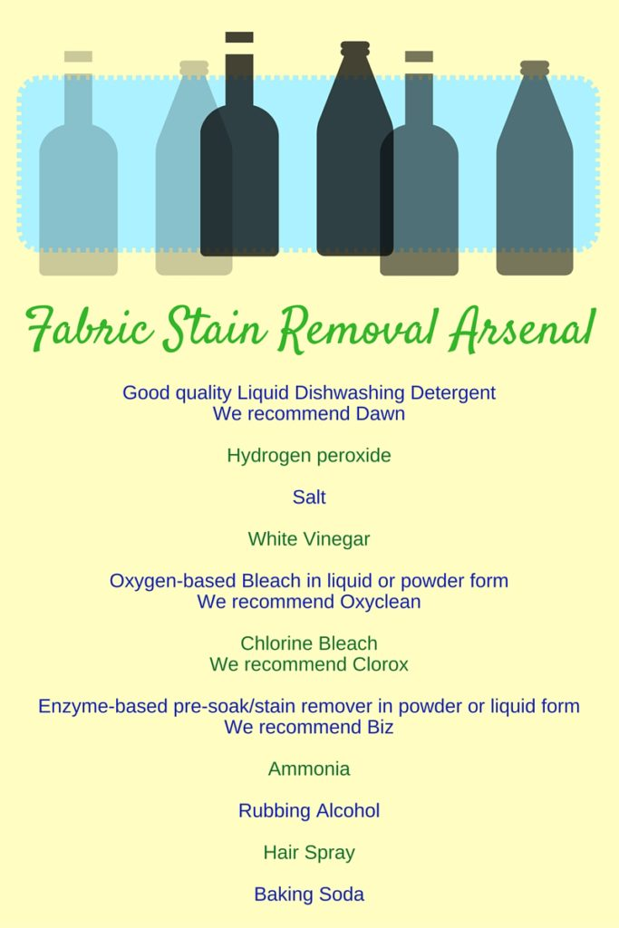 list of stain removers