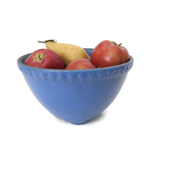 A blue bowl for fruit or snacks on your party table - SelectiveSalvage