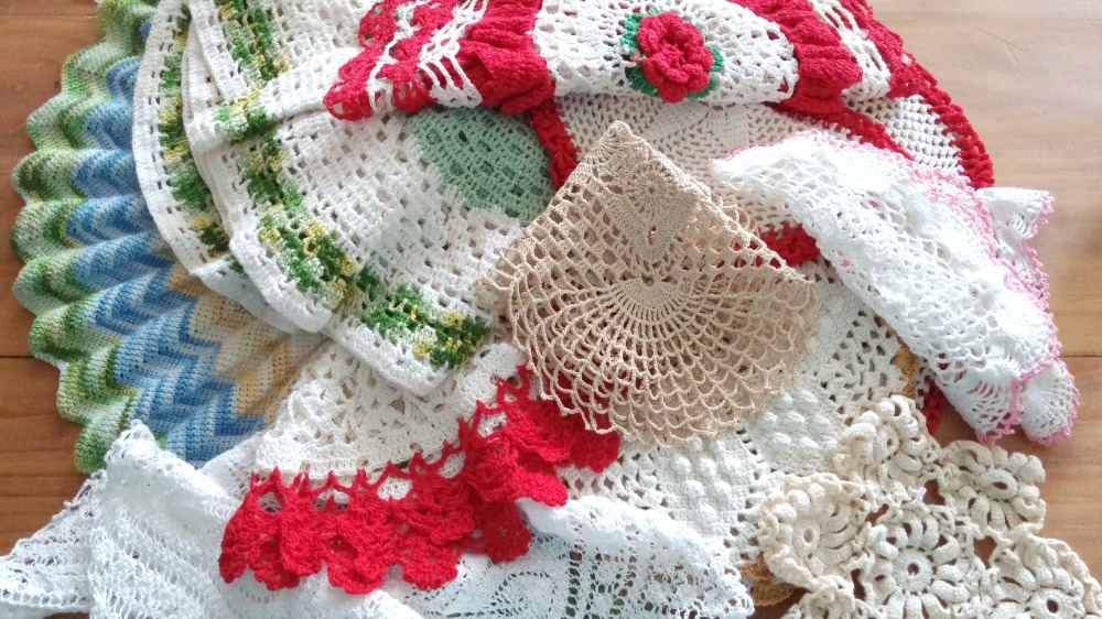 My personal hoard of vintage doilies