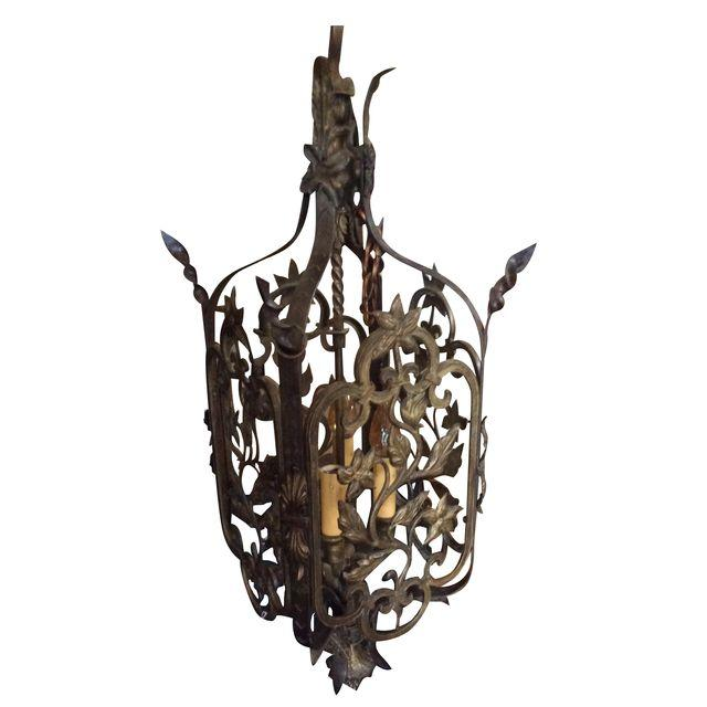 Chairish cast metal pendant light