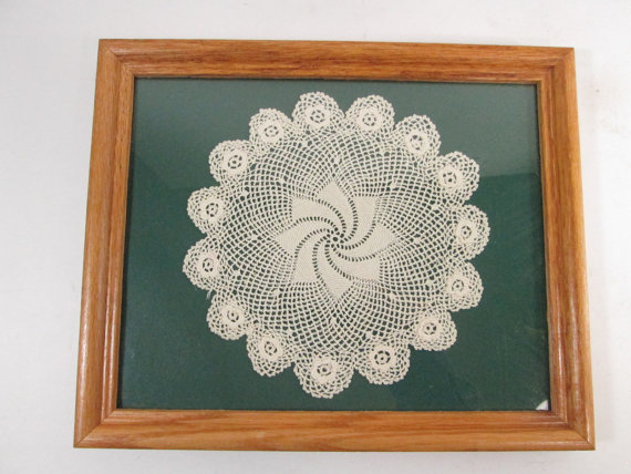 framed doily from Girlpickers
