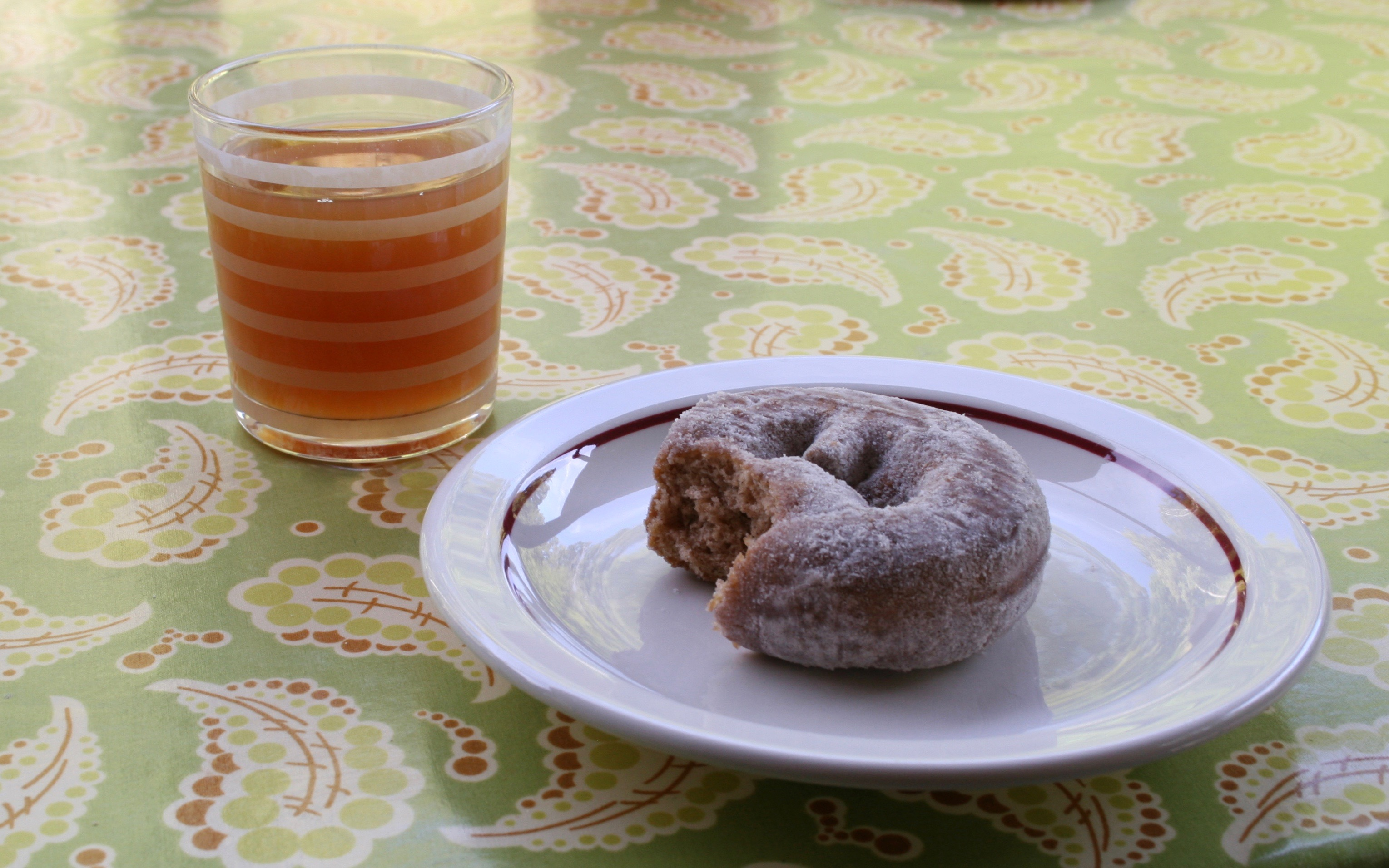 cider and cider donut