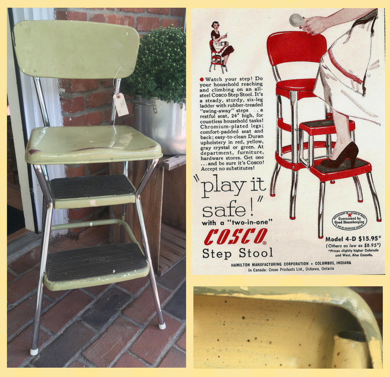 From left vintage Cosco step stool vintage Cosco stool magazine advertisement the yellow dark green light green paint history of the vintage stool  sc 1 st  Vintage Unscripted & 5 reasons every home needs a vintage step stool - Vintage Unscripted islam-shia.org