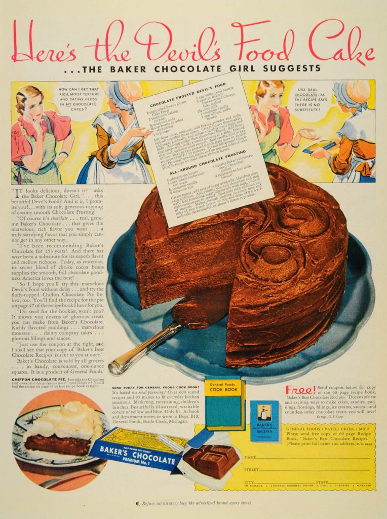bakers choc ad