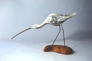 Sun bleached Godwit, circa 2015. Offered by Tinkham Decoys