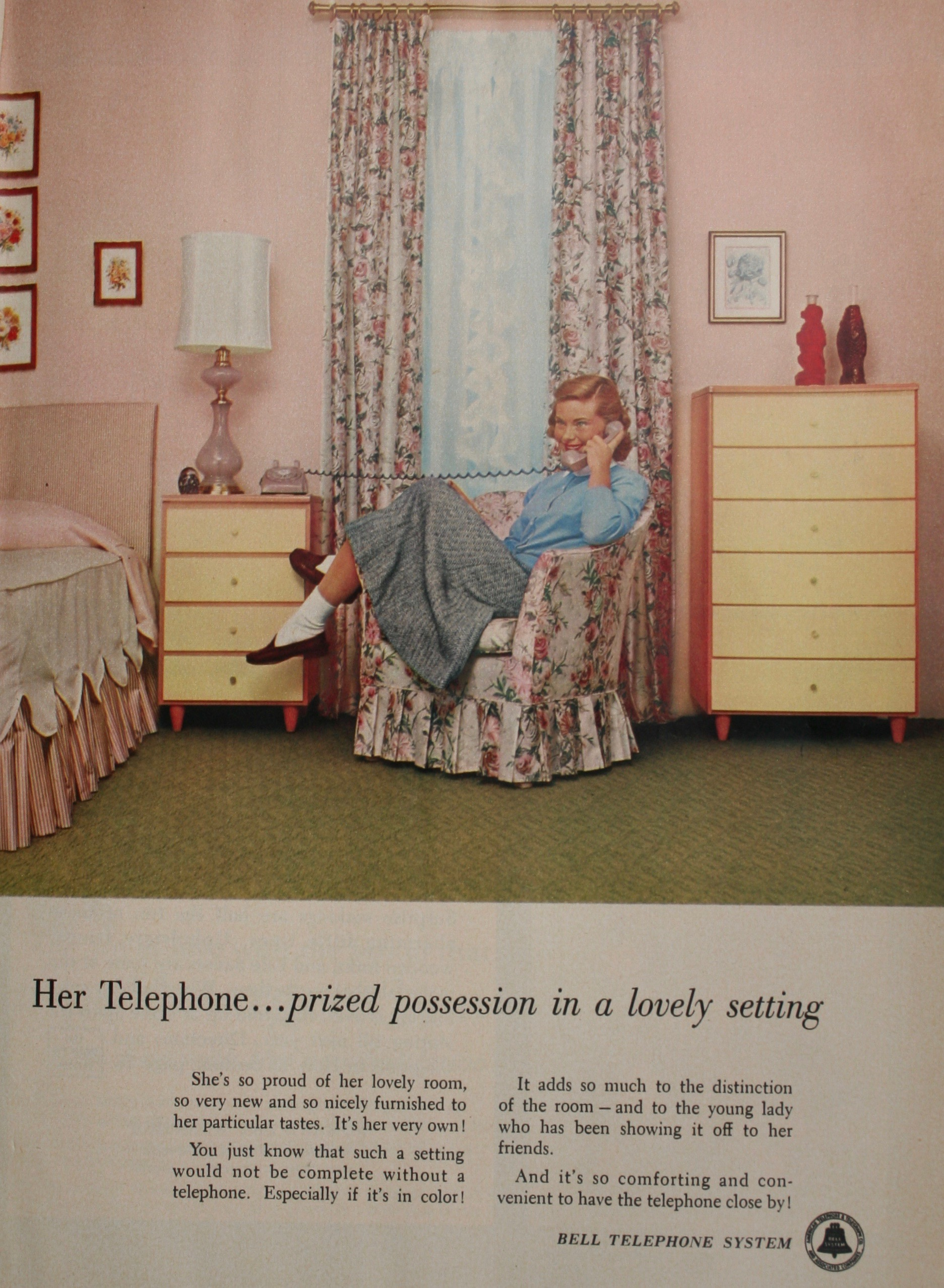 How about her own telephone to match her room's decor?